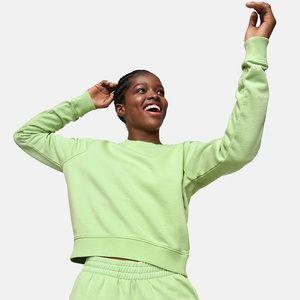 Outdoor Voices Jade Cotton Terry Sweatshirt